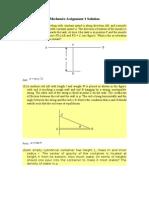 Assignment 1 - Mechanics 1 Solution