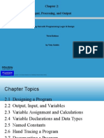 Starting Out With Programming Logic & Design - Chapter2_Input, Processing, And Output