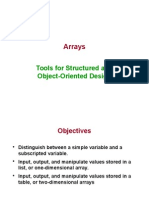 Tools for Structured and Object Oriented Design - Arrays