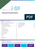 Proximus Q3 2015 Results Presentation