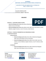 Admitere UMF 2016-2017 - Bibliografia Și Curriculele Extinse