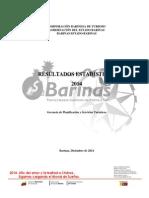 Informe 2014 estadisticas turisticas de el estado barinas corbatur