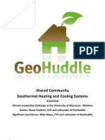 GeoHuddle - Community Geothermal Heating and Cooling Systems
