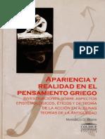 Apariencia y Realidad en El Pensamiento Griego Marcelo Boeri
