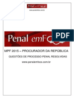 Prova - Mpf - Processo Penal