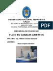 Informe de Flujo en canales abiertos