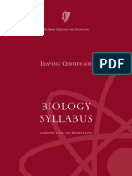 Leaving Certificate Biology Syllabus