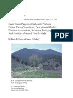 Great Basin Paleozoic Carbonate Platforms Guidebook