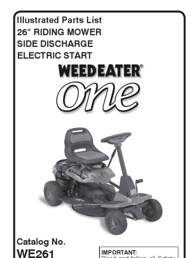 261 Weed Eater Lawn Mower Wiring Diagram Libraries Diagrams Library