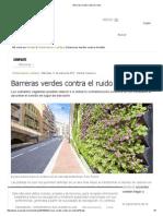 Barreras Verdes Contra El Ruido