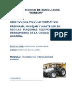 Modulo de Maquinaria , Equipos y Erramientas Agropecuaria