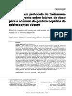 Efeito de um protocolo de treinamento concorrente sobre fatores de risco para o acúmulo de gordura hepática de adolescentes obesos