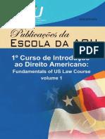 1º Curso de Introdução Ao Direito Americano Volume 1