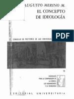 El concepto de Ideología. Merino