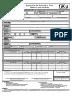 Authority to Print Receipt