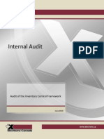 Audit of the Inventory Control Framework