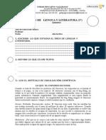 1 EXAMEN DE   LENGUA Y L. 1° PARCIAL 1° Q.