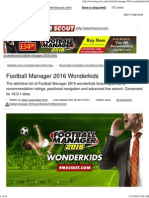 Football Manager 2016 Wonderkids