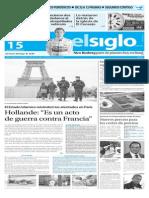 Edición Impresa El Siglo 15-11-2015