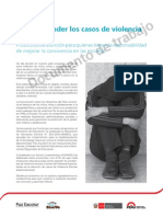 28h.ok.Cómo Atender Los Casos de Violencia Escolar. Protocolos de Atención Para Quienes Tienen La Responsabilidad de Mejorar La Convivencia en Las Escuelas.paz Escolar. Siseve. Minedu