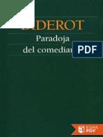 Paradoja Del Comediante - Denis Diderot