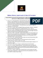 Military History Anniversaries 1116 Thru 113015
