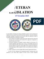 Veteran Legislation 151115