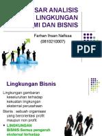 dasar analisis lingkungan ekonomi dan bisnis