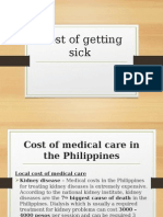 Ph Cost of Getting Sick