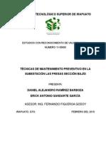 Tecnicas de Mantenimiento Preventivo en La Subestacion Las Fresas Seccion Bajio (1)