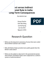 Direct versus indirect colonial rule in India