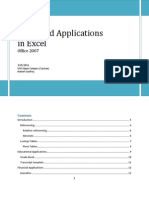 Financial Applications with Excel 2007
