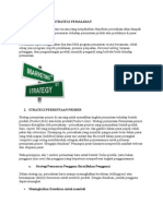 Unsur Pokok Strategi Pemasaran