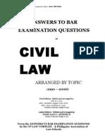 1990 2006 Bar Questions Civil Code