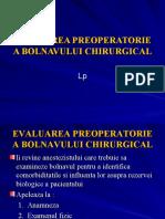 Evaluarea Preoperatorie a Bolnavului Chirurgucal