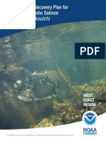 noaa proposed recovery plan for coho salmon september 2015