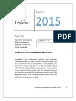 Valuation of Ashok Leyland Fiev Report