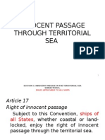 Innocent Passage Through Territorial Sea