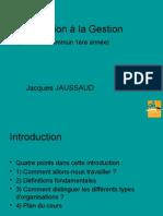 Introduction a La Gestion -2014-2015 - Pour Revisions d Examen