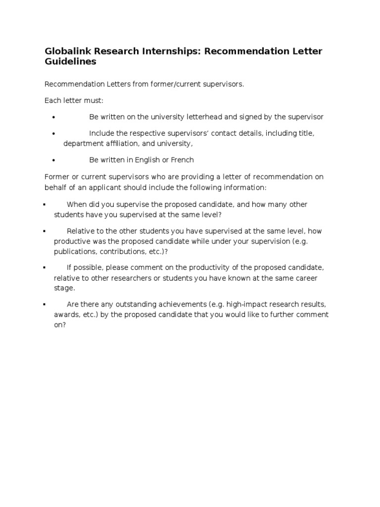 Recommendation Letter For Internship Student from imgv2-2-f.scribdassets.com