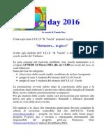 laboratorio  volantino pi-greco 2016 finale