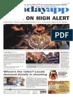 Asbury Park Press front page, Sunday, November 15, 2015