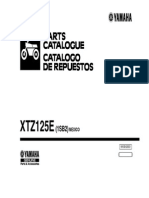 Yamaha XTZ125E Parts Catalogue