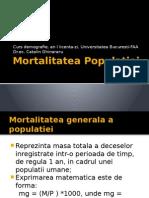 Mortalitatea Populatiei
