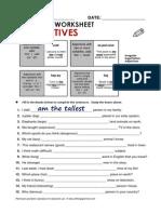 Worksheet Superlatives