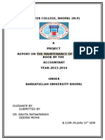 REPORT ON THE MAINTENANCE OF ACCOUNTS BOOK BY THE  ACCOUNTANT