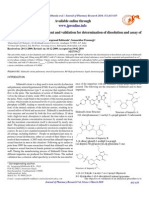 RP-HPLC Method Development and Validation for Determination of Dissolution and Assay Of