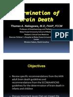 Diagnosis of Brain Death 2012 ARORA