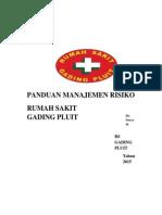 267650771 Panduan Manajemen Risiko RS Gading Pluit
