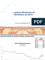 Programa Monetario Noviembre 2015